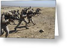 Iraqi Army Soldiers Move To Positions Greeting Card