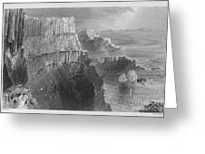 Ireland: Cliffs, C1840 Greeting Card