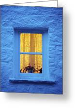 Ireland Cottage Window At Night Greeting Card