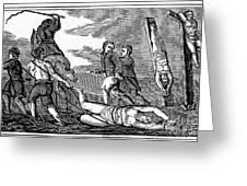 Ireland: Cruelties, C1600 Greeting Card by Granger