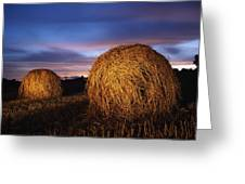 Ireland Hay Bales Greeting Card