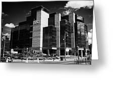 Irelands Ifsc International Financial Services Centre In Dublins Docklands Dublin City Centre Greeting Card