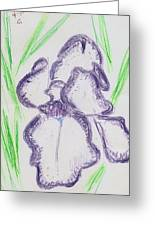 Iris Outlined Greeting Card