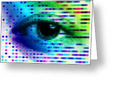 Iris Scanning Greeting Card