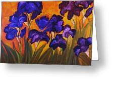 Irises In Motion Greeting Card
