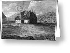 Irish Cabin, 18th Century Greeting Card