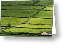 Irish Countryside Near Valenica Island Greeting Card