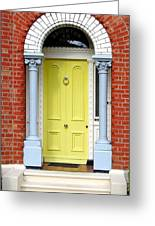 Irish Door Five Greeting Card