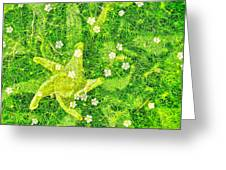 Irish Moss With A Twist Greeting Card