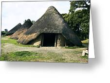 Iron Age Roundhouse Greeting Card by Sheila Terry