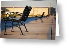 Iron Bench Greeting Card