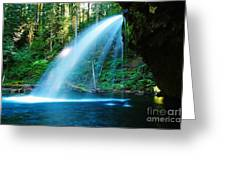 Iron Creek Falls From The Side  Greeting Card