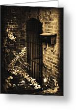 Iron Door Sepia Greeting Card