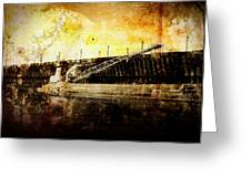 Iron Ore Freighter Greeting Card