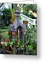 Iron Post Greeting Card by Perry Webster