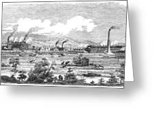 Iron Works, 1855 Greeting Card