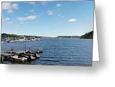 Irondequoit Bay Panorama Greeting Card