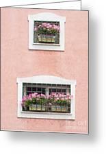 Ischia Windows Greeting Card