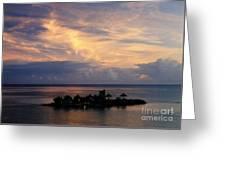 Island At Sunset Greeting Card