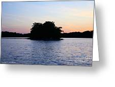 Island Evening Greeting Card