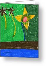 Island Flower Greeting Card