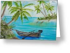 Island Paridise  Greeting Card