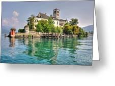 Island San Giulio Greeting Card by Mats Silvan