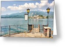 Island San Giulio On Lake Orta Greeting Card