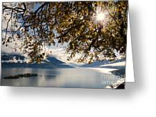 Islands On A Lake In Autumn Greeting Card