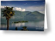 Islands On An Alpine Lake Greeting Card