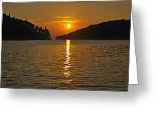 Island's Sunset Greeting Card
