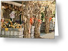 Isoms Orchard In Fall Regalia Greeting Card