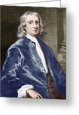 Issac Newton, English Physicist Greeting Card by Sheila Terry