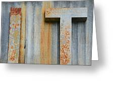 It Rusty Sign Greeting Card