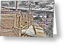Italian Village-sydney Harbor Bridge Greeting Card