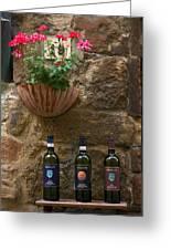 Italian Wine And Flowers Greeting Card