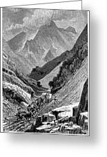 Italy: Carrara Mountains Greeting Card