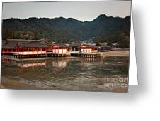 Itsukushima Shrine On Miyajima Island Greeting Card