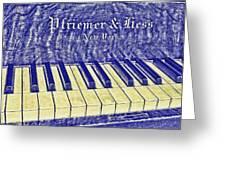 Ivory Blues Greeting Card