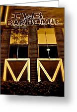 Iwb Barbecue Greeting Card by Amber Hennessey