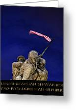 Iwo Jima Memorial Front View Greeting Card