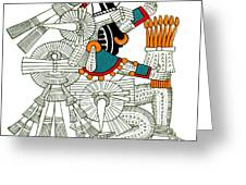Iztlacoliuhqui, Aztec God Of Frost Greeting Card