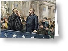 J. A. Garfield: Inauguration Greeting Card by Granger