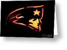 Jacko Lantern Patriots Greeting Card