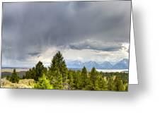 Jackson Hole Thunderstorms Greeting Card