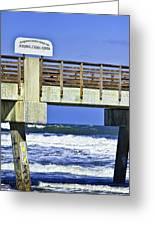 Jacksonville Beach Fishing Pier Greeting Card