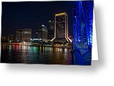Jacksonville Florida Riverfront Greeting Card