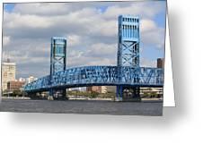 Jacksonville Main Street Bridge Greeting Card