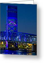 Jacksonville Skyline Greeting Card