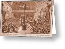 Jacobin Club Meeting Greeting Card